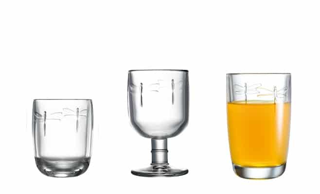 collection de verres Libellules
