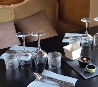 gobelet Blossom - présentation chic restaurant