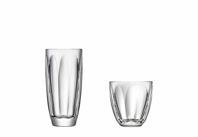Gobelet et long drink Boudoir, Design Christian Ghion